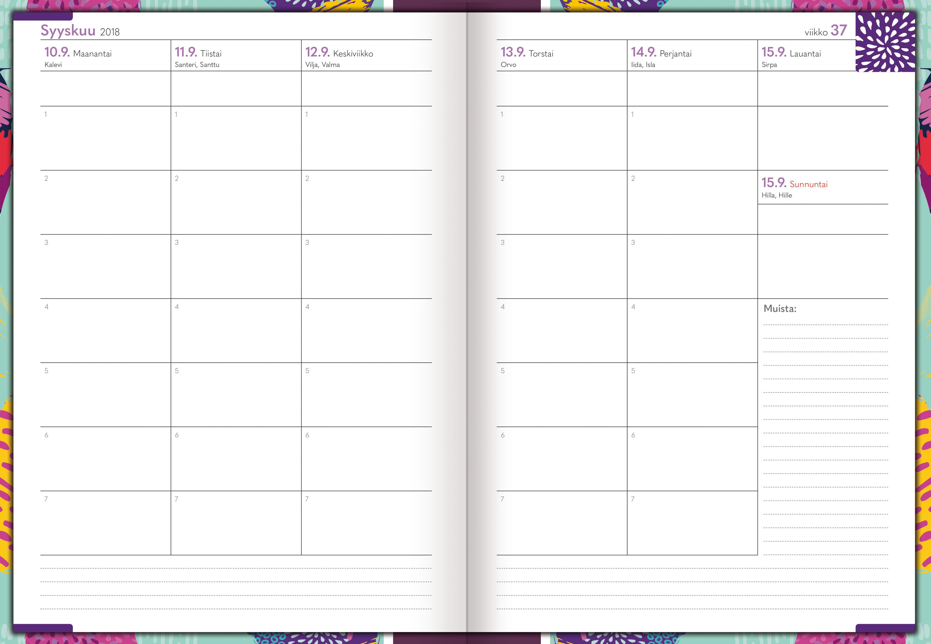opettaja kalenteri